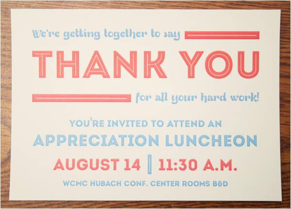 lunch invitation design