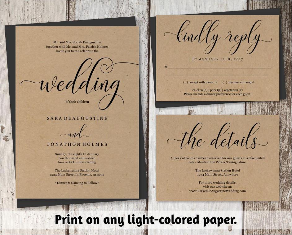 traditional wedding invitation template
