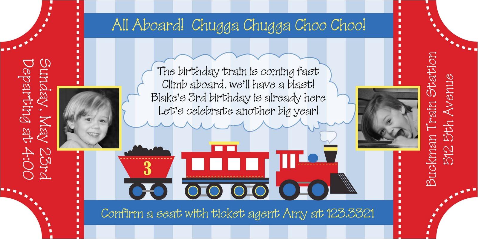 train birthday invitation templates