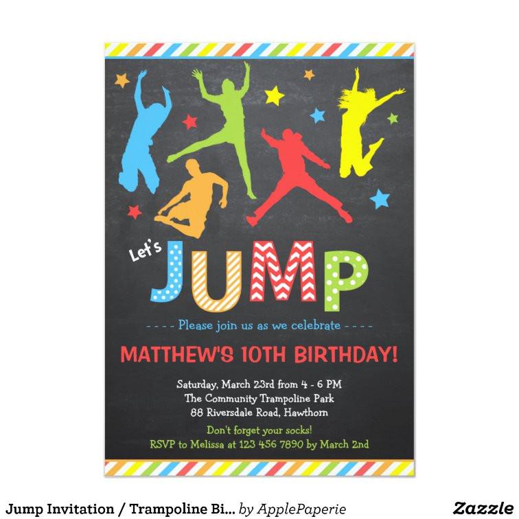 jump invitation trampoline birthday invitation 256495633286947208