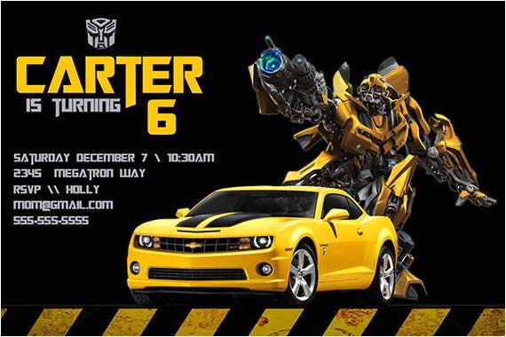 transformers birthday invitation