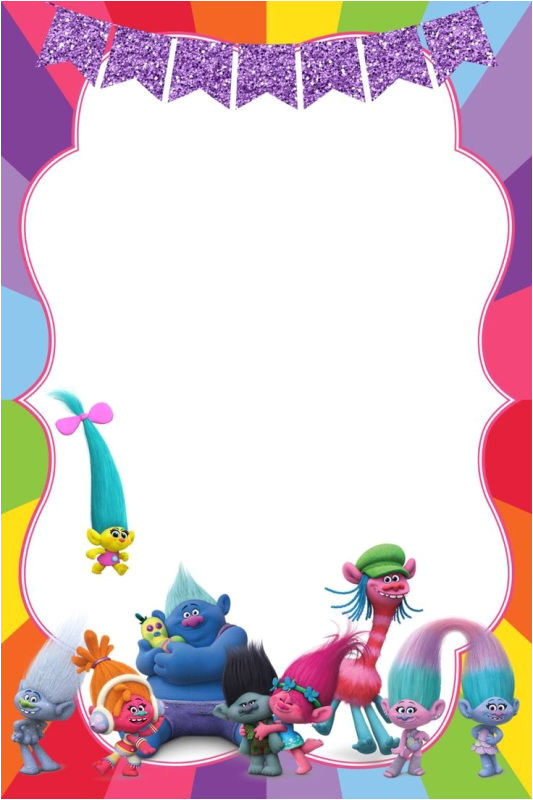 birthday party invitation for calling all trolls
