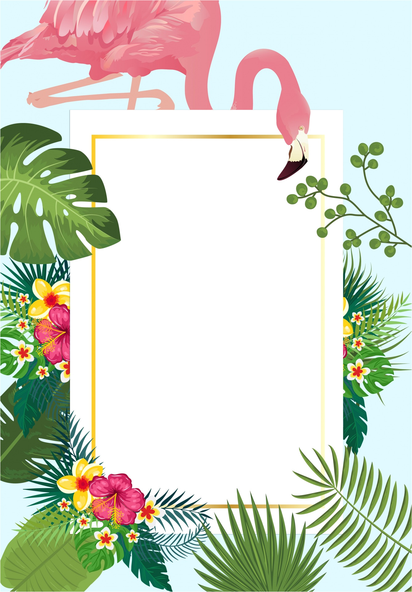 view image image 263891 picture flamingo tropical invitation card