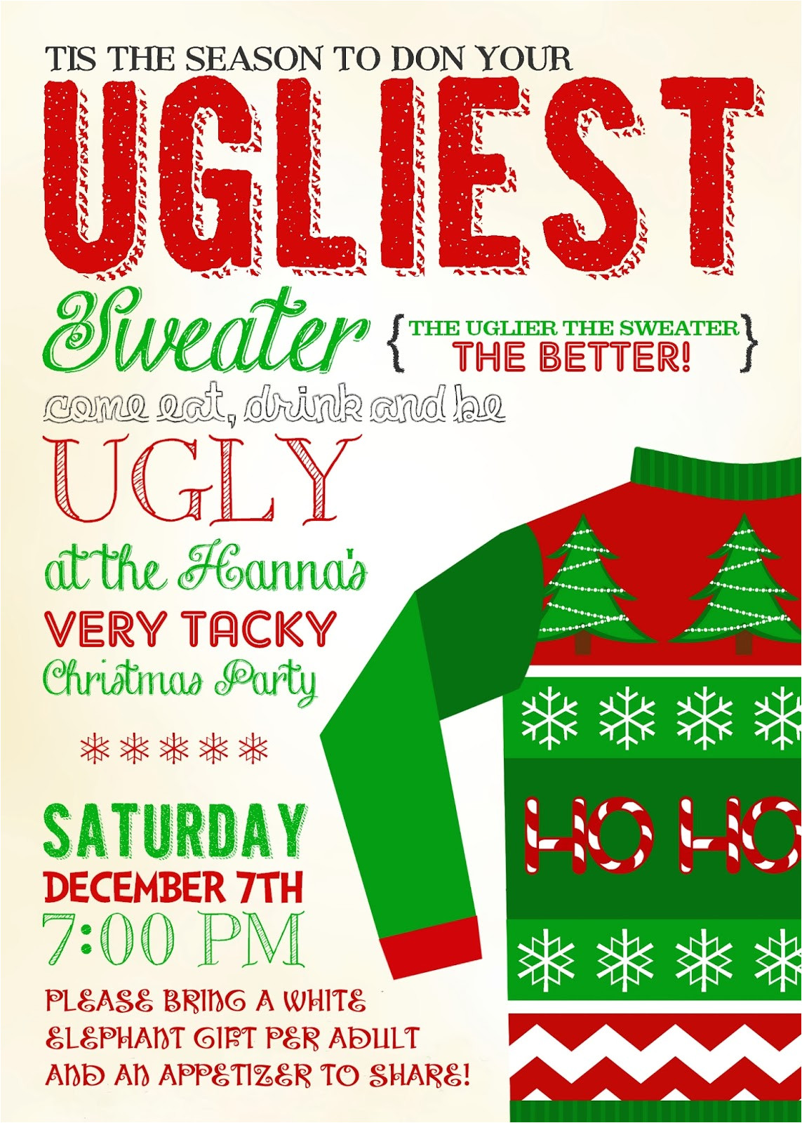 be ugly christmas party