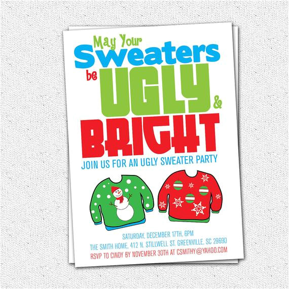ugly sweater party invitation tacky