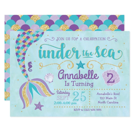 mermaid invitation under the sea invite 256200690648358075