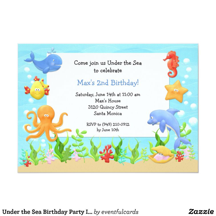 under the sea birthday party invitation 161758312369341896
