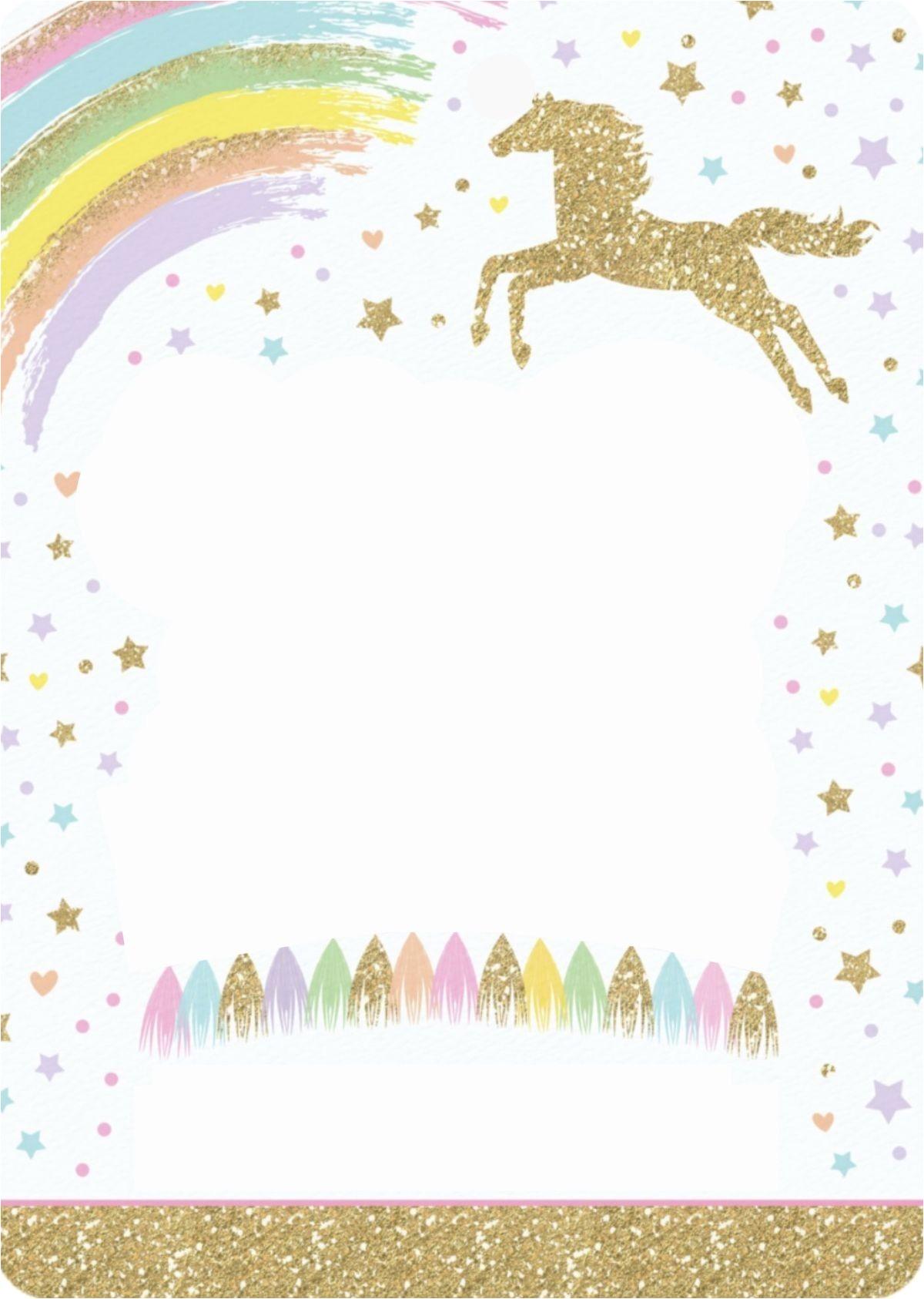 8 magical unicorn birthday invitations