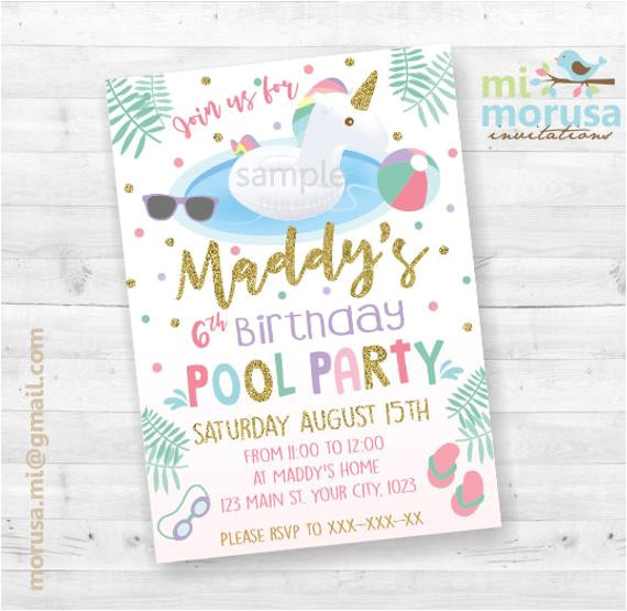 unicorn float pool party printable