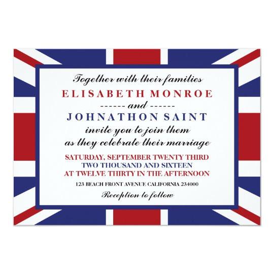 union jack flag british wedding invitation 256044765035525303