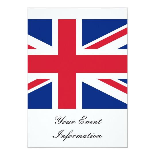 union jack flag great britain party event invitation 161894025504985180