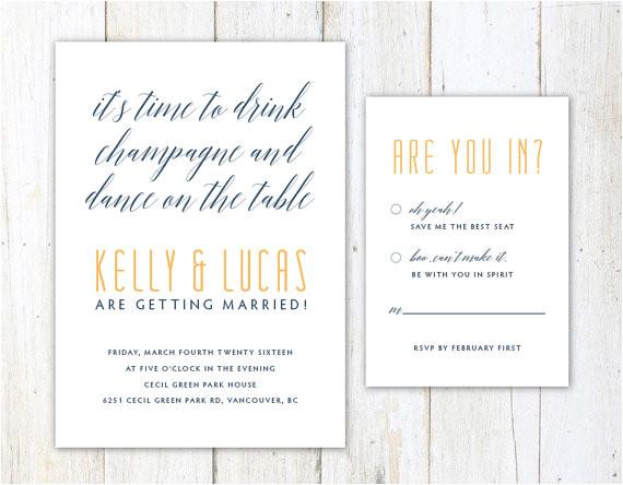 funny wedding invitation unique wedding