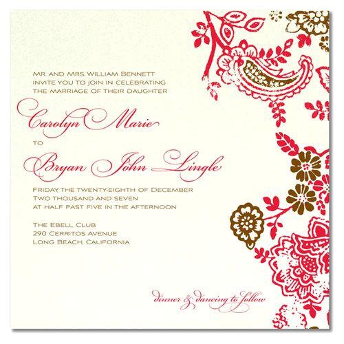 unique wedding invitation wording second