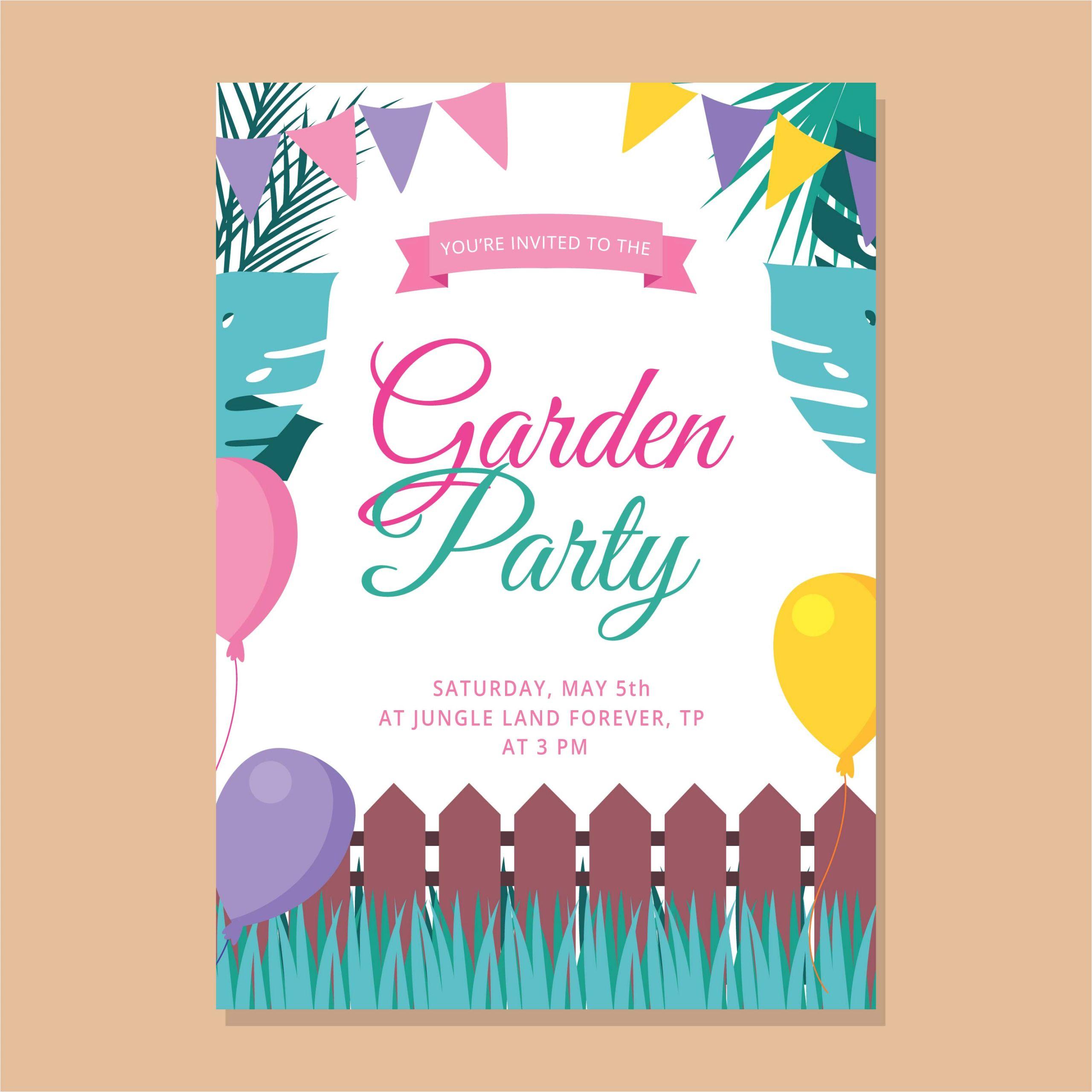 217621 garden party invitation