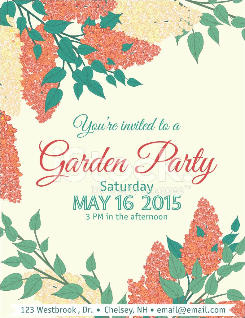 garden party invitation template 1345989