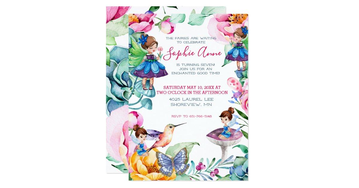 spring fairy birthday party invitation 256657421543521165