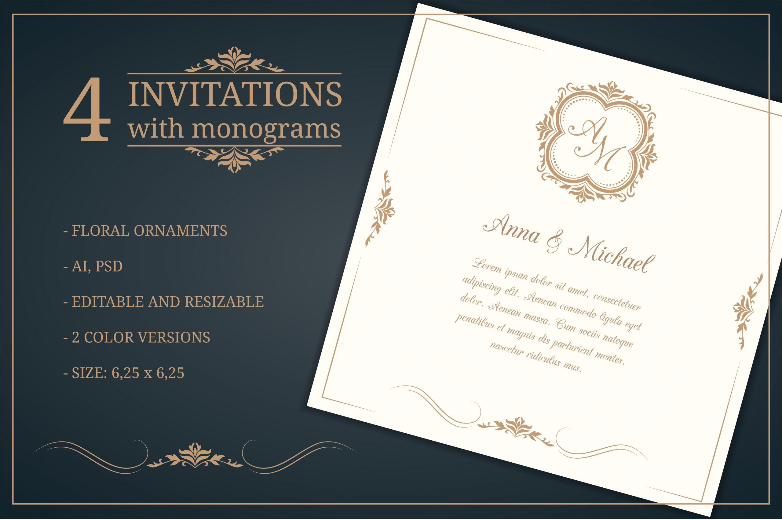 478559 wedding invitations with monograms