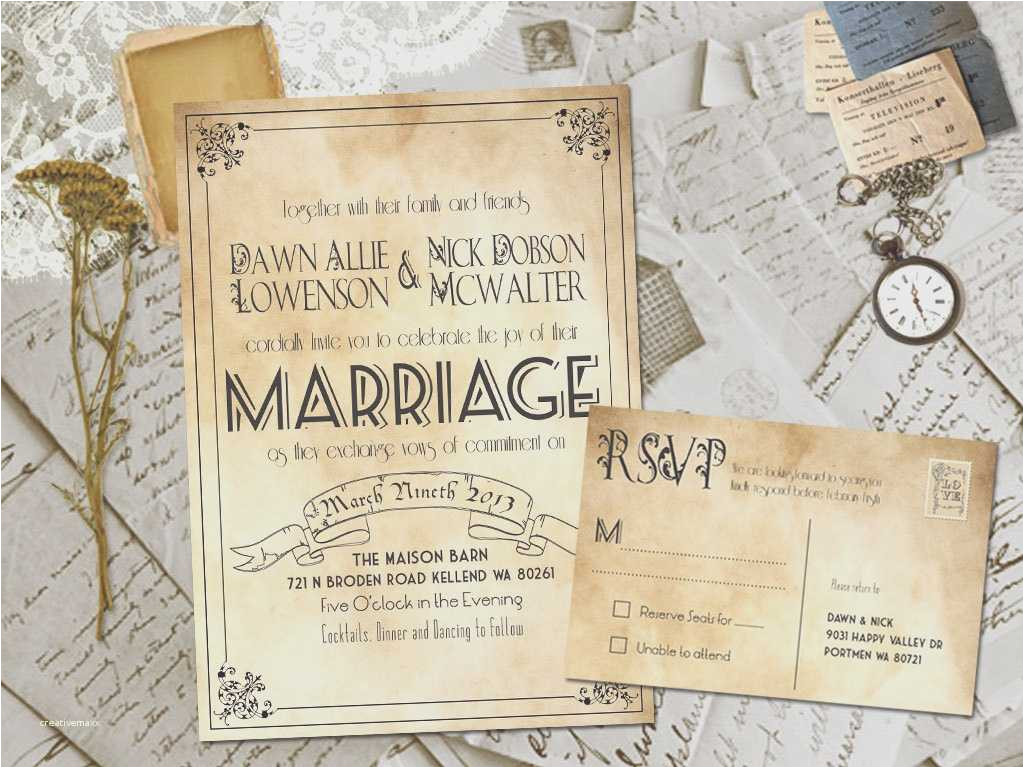 blank vintage wedding invitation templates