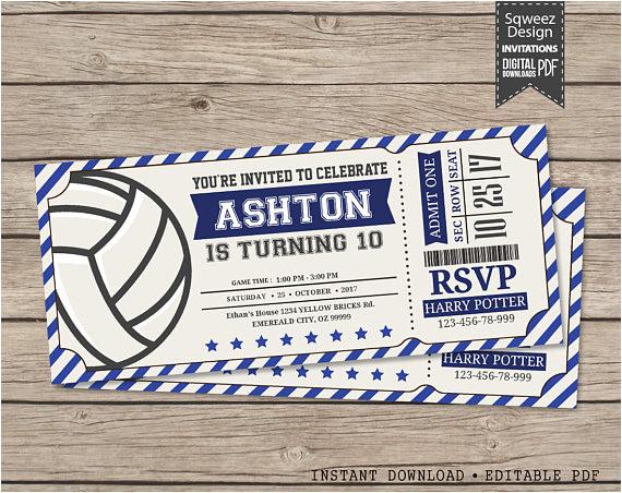volleyball invitations volleyball