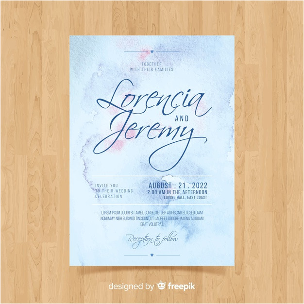 watercolor wedding invitation template 3867469