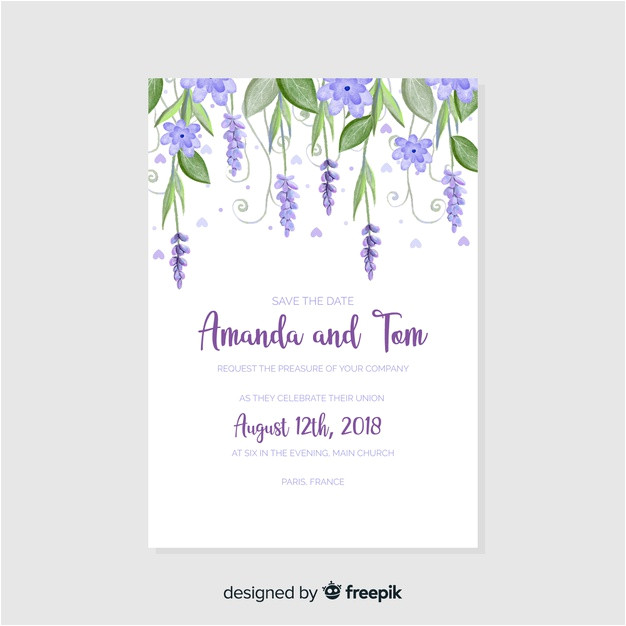 watercolor wedding invitation template 3927442