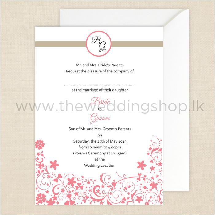 sri lankan invitations
