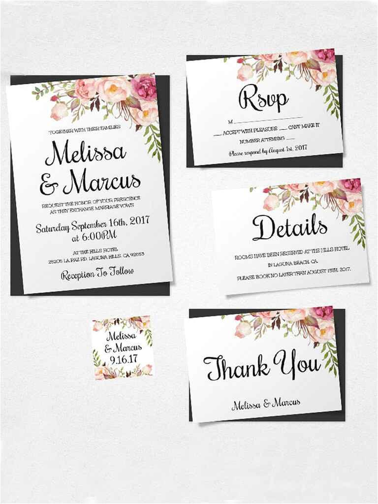 printable wedding invitation templates