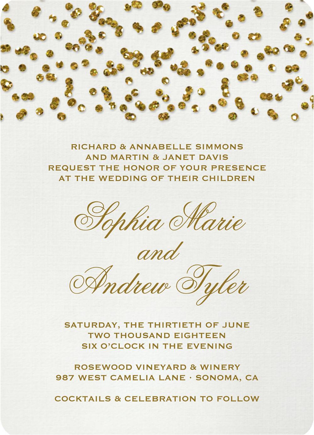 glittery wedding stationery 1256
