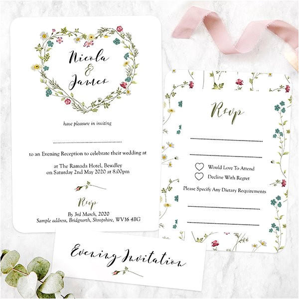 how to word your evening wedding invitations