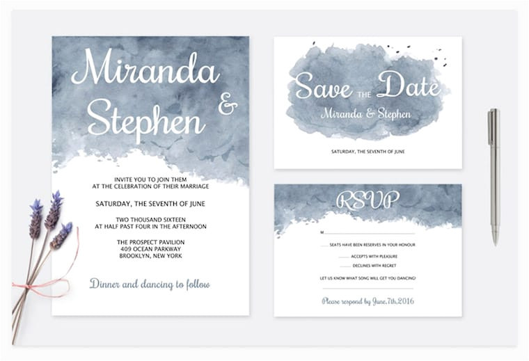 14 modern wedding invite templates