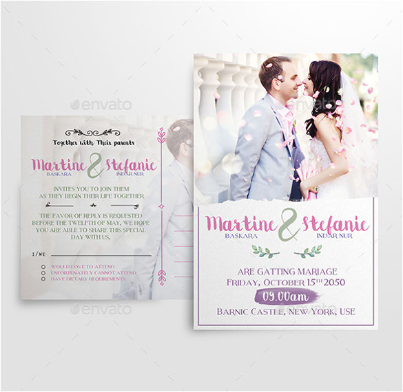 sample modern wedding invitation