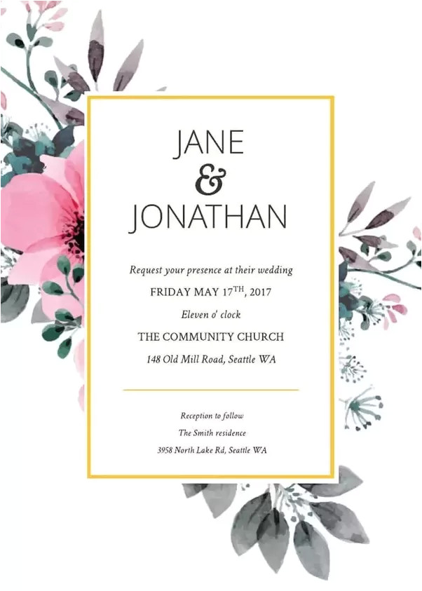 how do i custom make my online wedding invitation