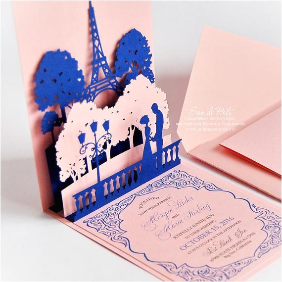 pop up wedding invitations lovers of