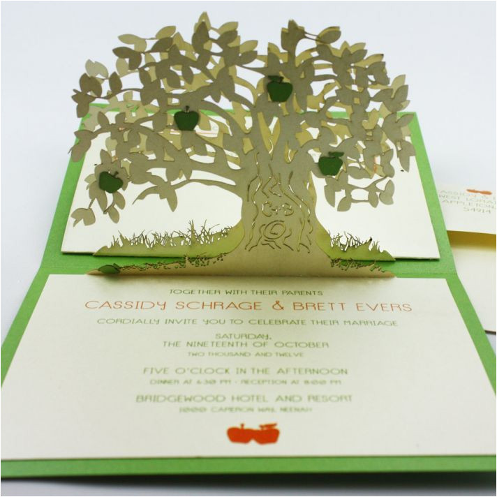 wedding invitation pop up card