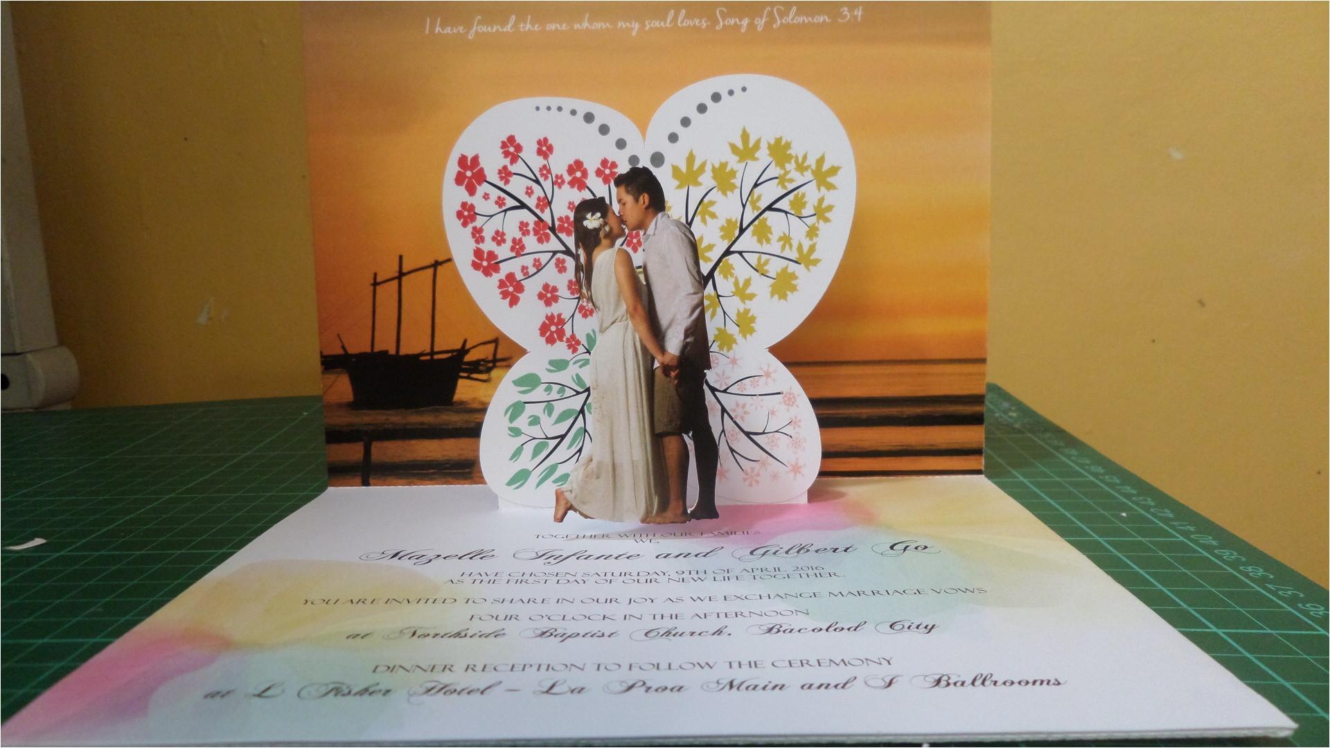 wedding popup invitations