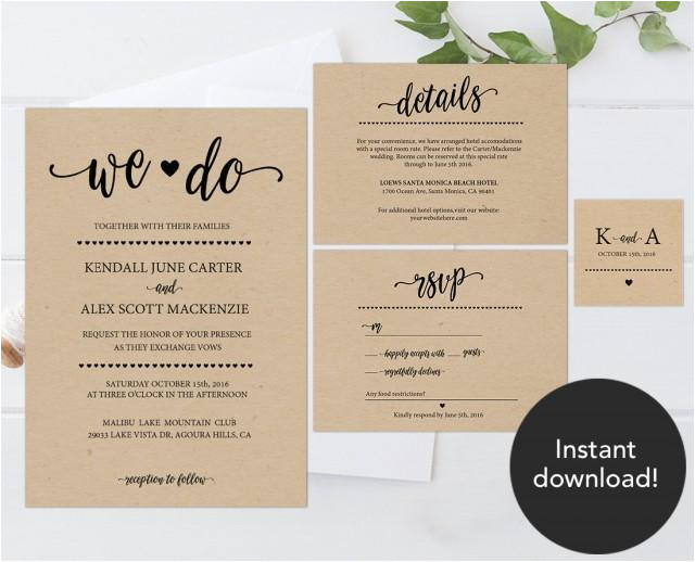 rustic wedding invitation template wedding invitation templates wedding cards cheap wedding invitations printable wedding invitations