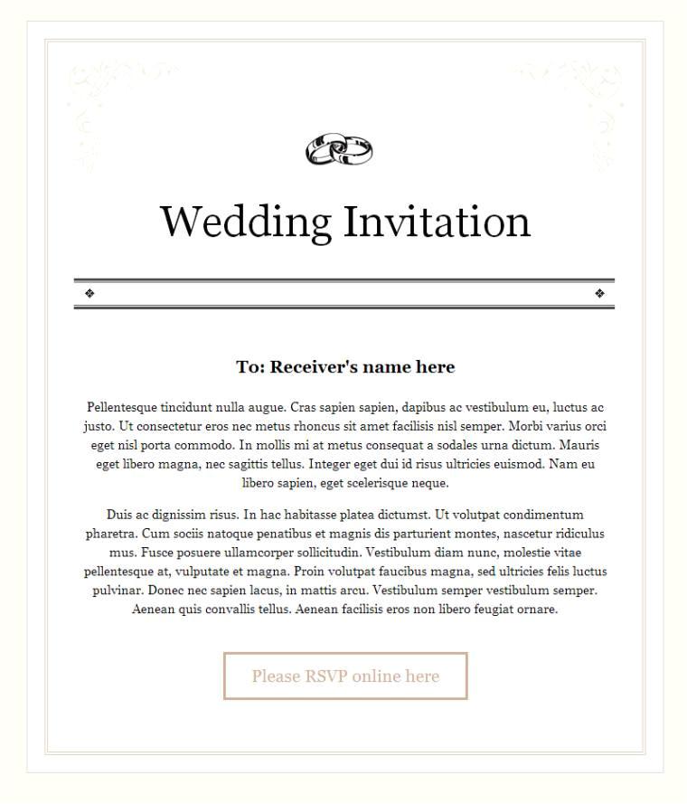 wedding invitation mail format