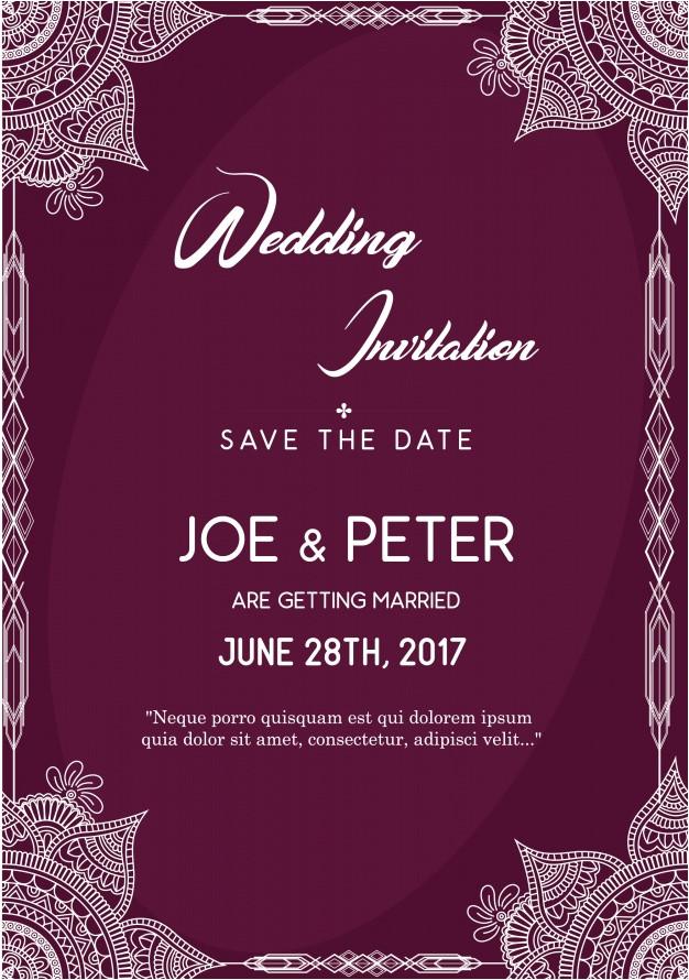 purple wedding invitation template 1127737