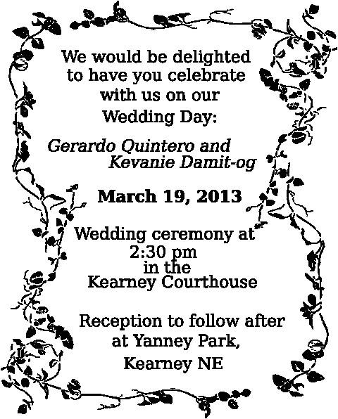 clipart wedding invitation template 1