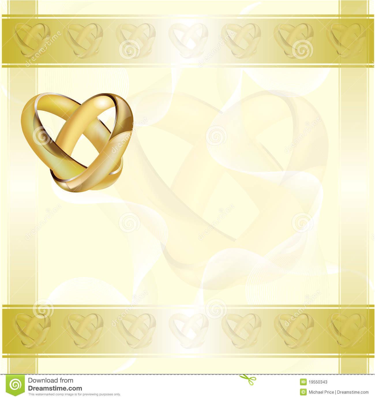 stock photos wedding invitation card gold rings image19550343