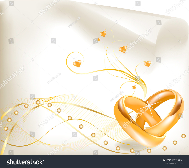 wedding invitation template beautiful golden ringselegant 107714714