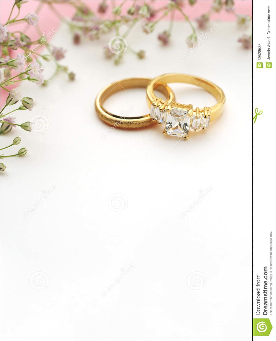 stock photos wedding invitation copy space blank card rings image39528533
