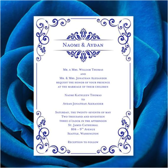 wedding invitation template julia royal