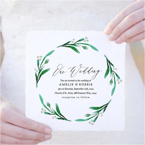 bettie printable wedding invitation template set