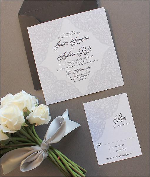 elegant lace square invitation template