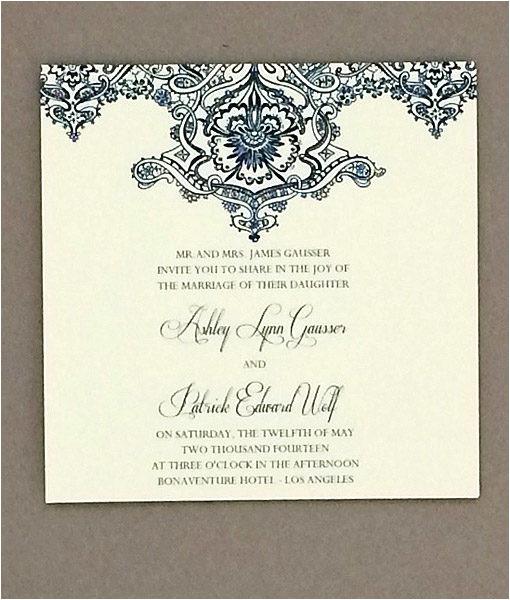 Wedding Invitation Template Square Pearls Lace Square Wedding Invitation Download Print