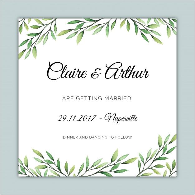 square wedding invitation template with botanical illustrations 1700331