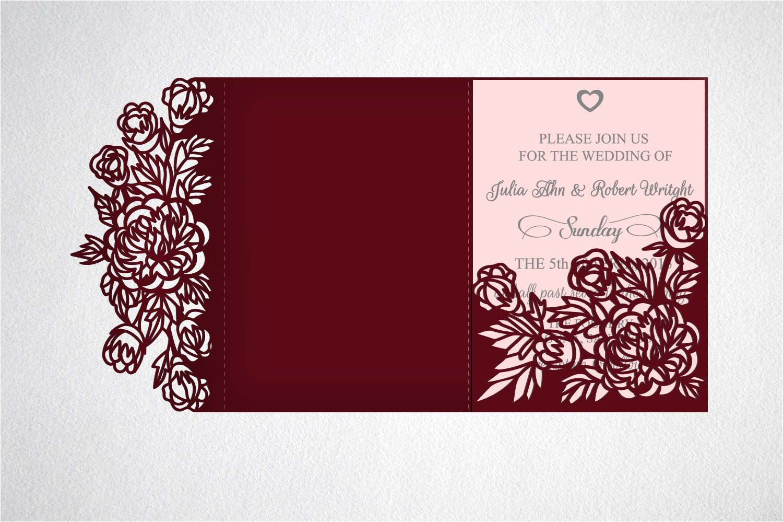 tri fold wedding invitation svg cricut