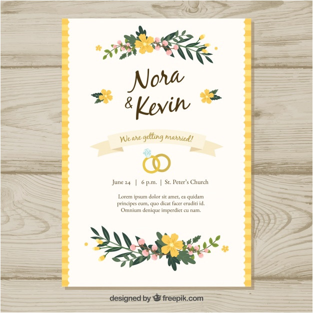 floral wedding invitation template 1346219