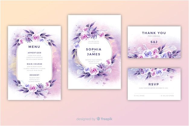 watercolor floral wedding invitation template 5554567